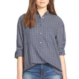 Madewell Collarless Popover Top